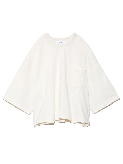 短丈ボリュームシルエットTシャツ(IVR-0)