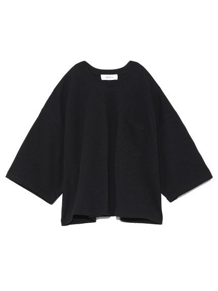 短丈ボリュームシルエットTシャツ(BLK-0)