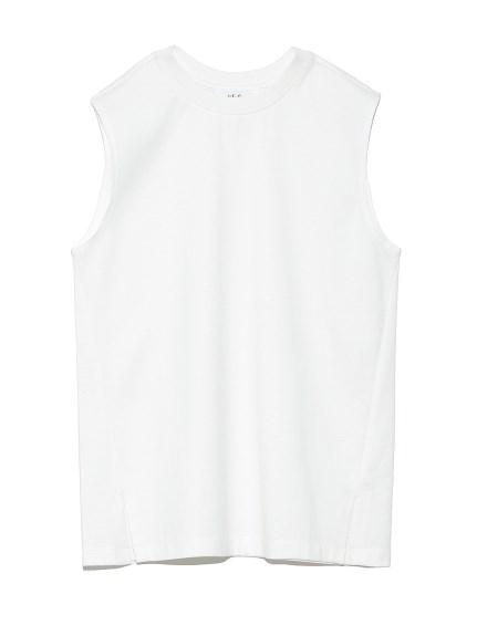 ベーシックノースリーブTシャツ(WHT-0)