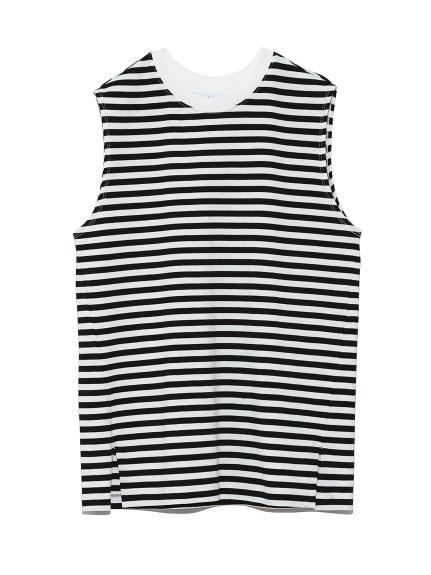 ベーシックノースリーブTシャツ(BORDER-0)