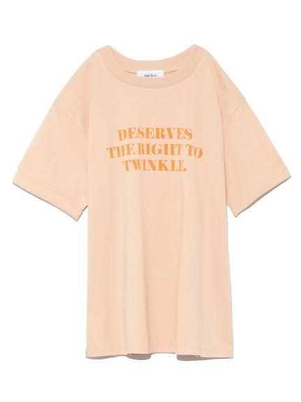 スリーブデザイン3段ロゴTシャツ