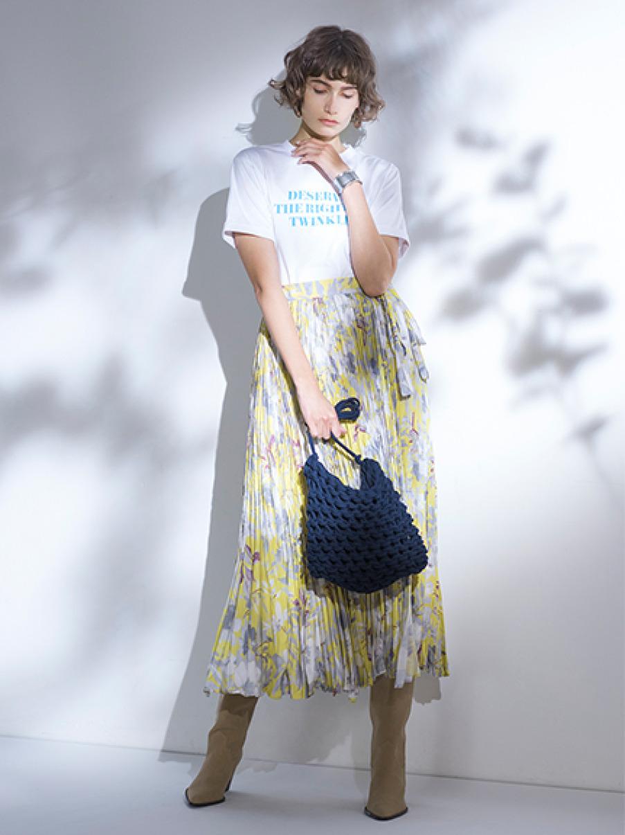 スリーブデザイン3段ロゴTシャツ(WHT-0)