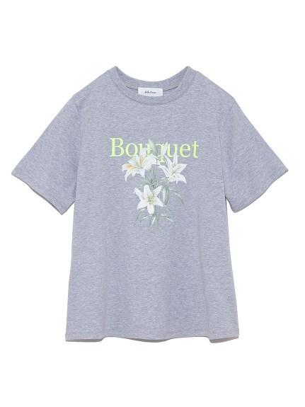 FlowerモチーフプリントTシャツ