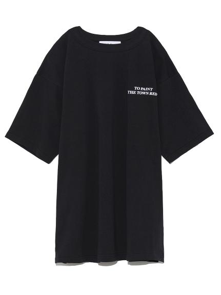 サイドスリットビッグTシャツ(BLK-0)