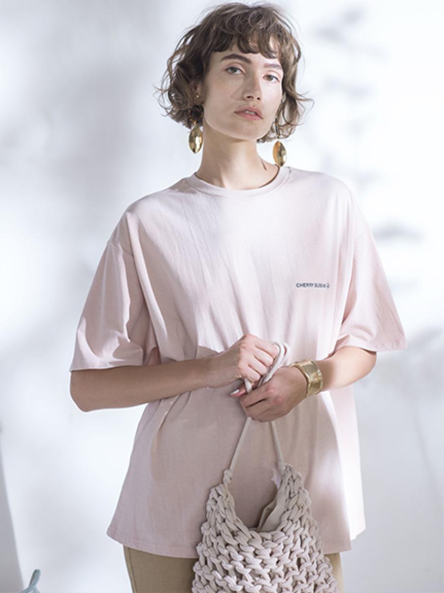 FLOWERカラーTシャツ(PNK-0)