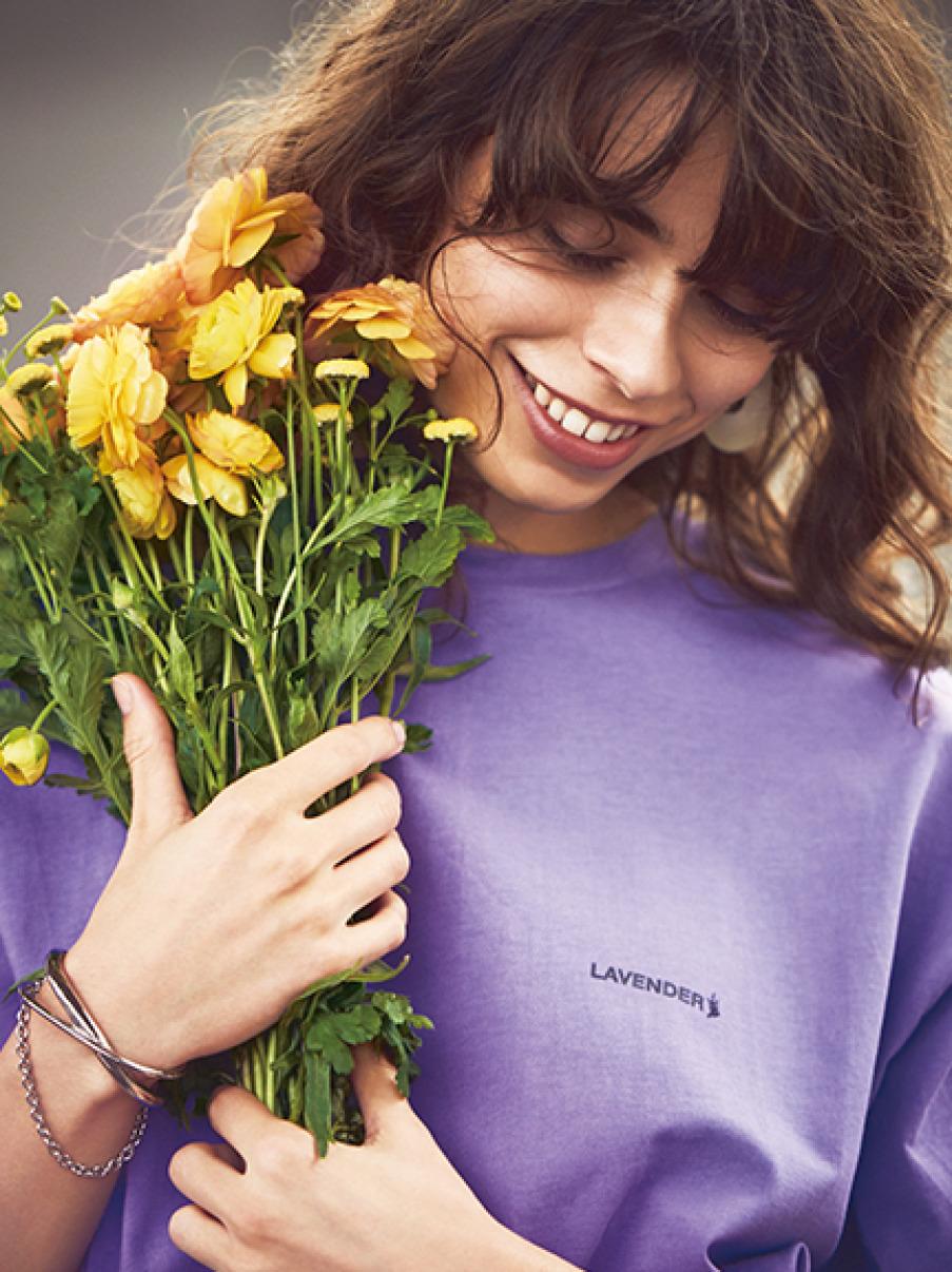 FLOWERカラーTシャツ(LAV-0)