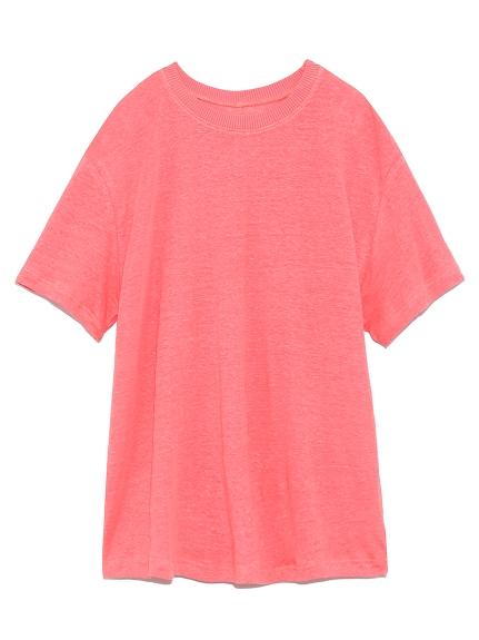 リネン100%ハイラインTシャツ(PNK-0)