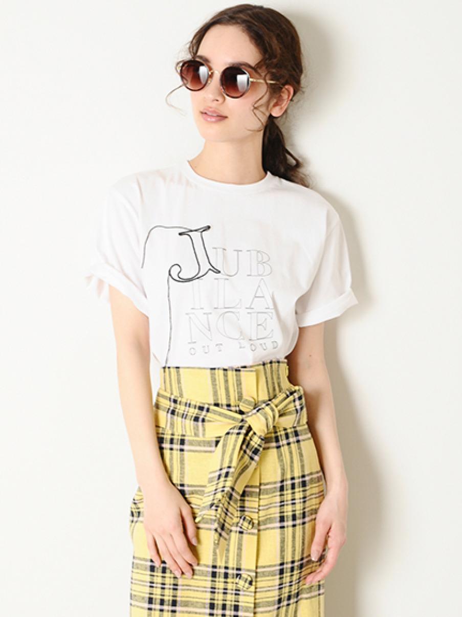 3段ロゴプリントTシャツ(WHT-0)