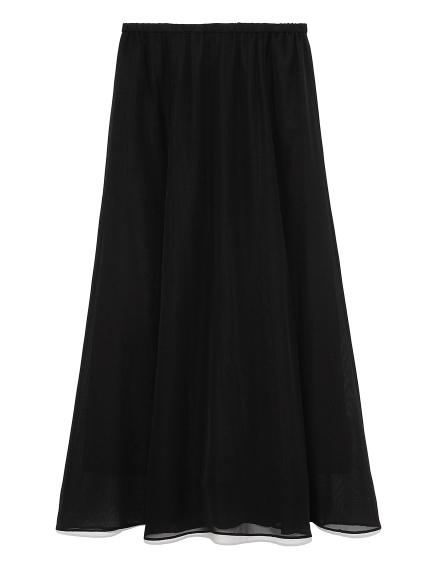 ウエストゴムフレアマキシスカート