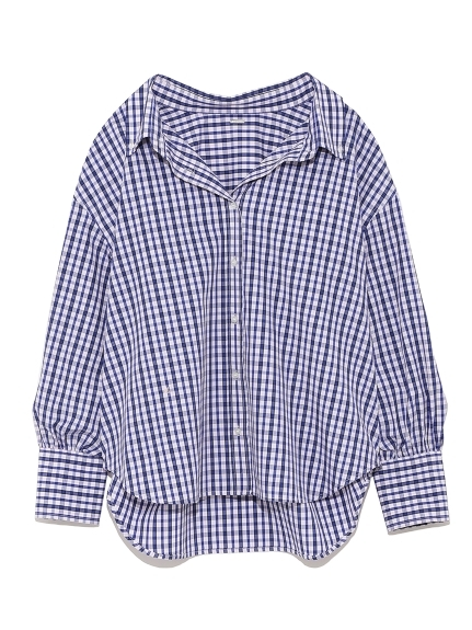 カフスデザインボタンダウンシャツ