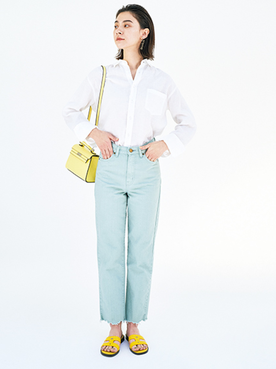 フレンチリネンシャツ(WHT-0)