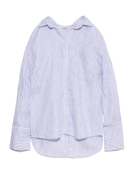 フレンチリネンシャツ(STRIPE-0)