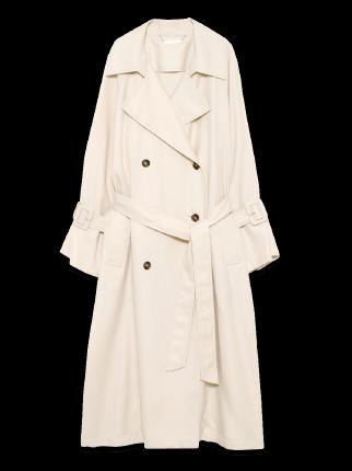 Sleeve volume long trench coat
