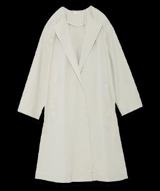 Behind tack A-Line coat